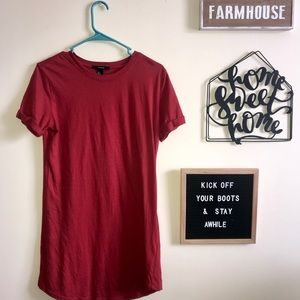 Rusty Red T-shirt Dress